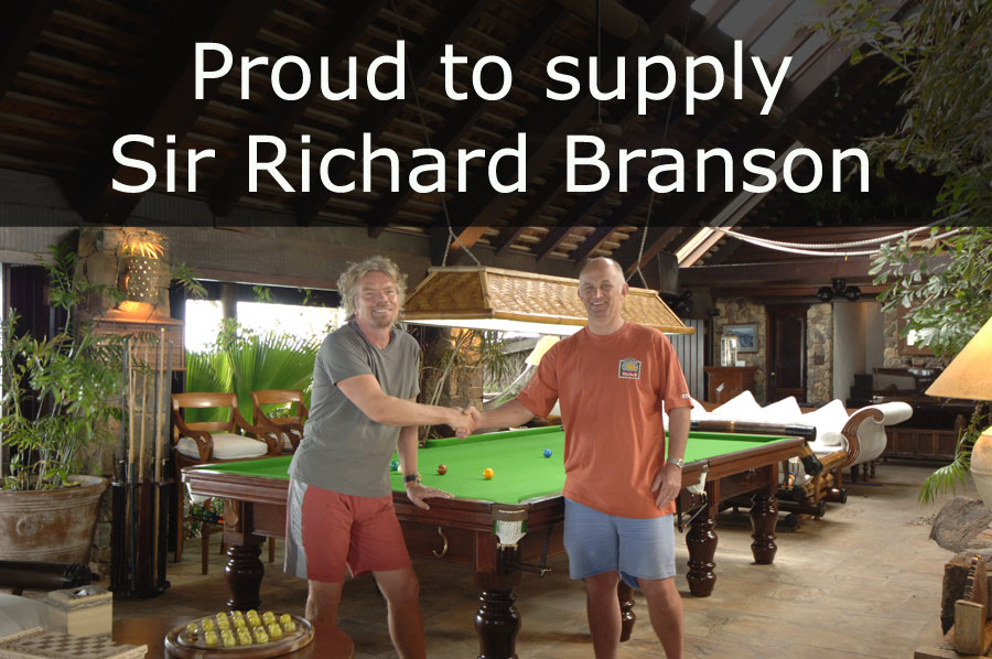 Snooker Table supplier to Sir Richard Branson